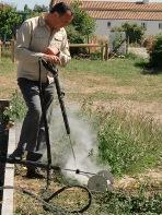 Démonstration de désherbage thermique